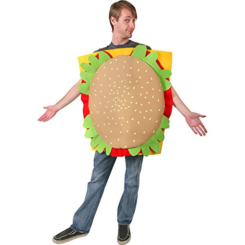 Adult's Hamburger Halloween Costume (Size: Standard 44)