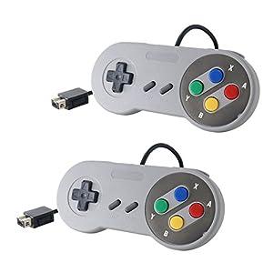 Link-e - 2 X Mandos Para Super Nintendo Snes Mini Classic Edition Consola De Juego