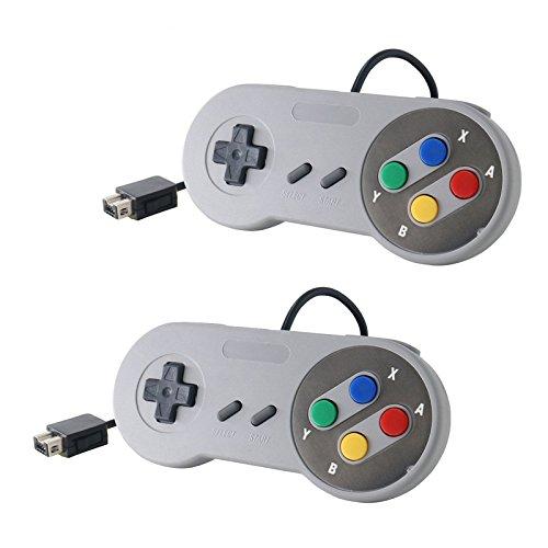 Link-e ® - Set di 2 controller per console Super Nintendo Snes Mini Classic Edition