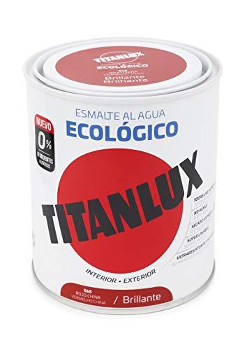 Titanlux - Esmalte Agua Ecologico Brillante, Rojo, 750ML (ref. 00T056534)