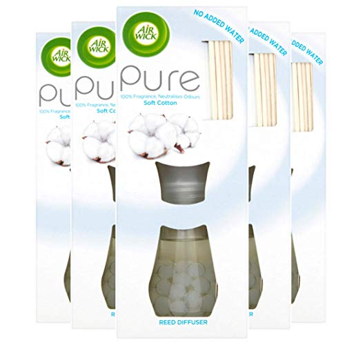 Air Wick Air Freshener Reed diffuser Soft Cotton, Pack of 5