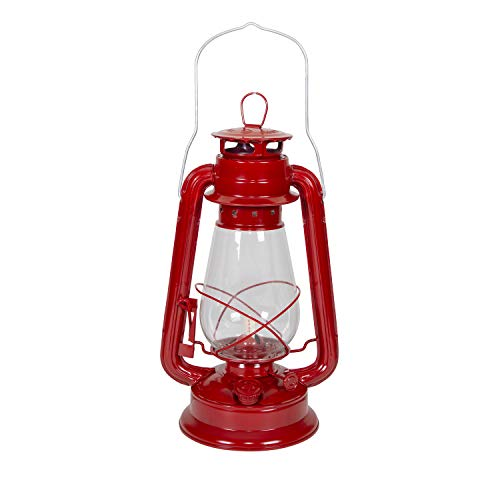 Stansport 127 Hurricane High Oil Lantern (Red, 12-Inch)