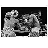 ZFLSGWZ Carteles E Impresiones De Lienzo De Boxing Triple Gennady Golovkin, Cuadros Artísticos De Pared, Decoración del Hogar, 50X75Cm, Sin Marco