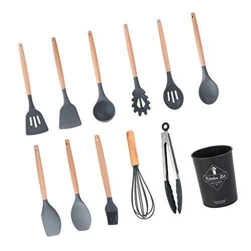 PETSOLA 12xSilicone Utensilios de Cocina Utensilios de Cocina Set-