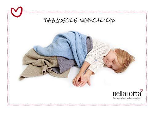BellaLotta Strickanleitung Babydecke Wunschkind in 2 Größen - auch digital