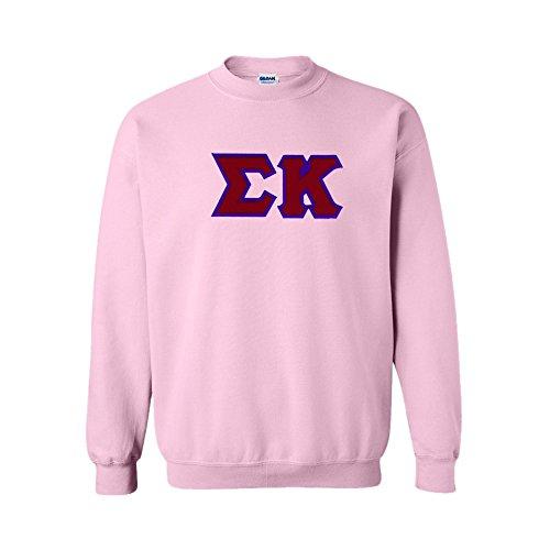 Sigma Kappa Lettered Crewneck Large Light Pink