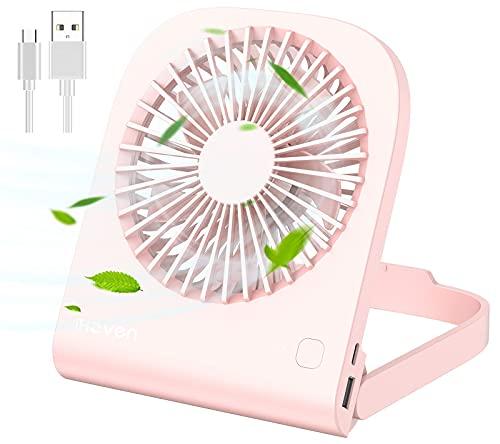 iHoven USB Mini Desk Fan 6 inch, Rechargeable 4800mAh Battery Operated Mini...