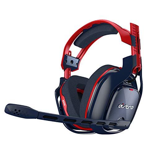 ASTRO Gaming A40 TR-X Auriculares Alámbricos, 4ta Gen., ASTRO Audio V2, Dolby ATMOS, Clavija de 3.5 mm, Micrófono Intercambiable, para Xbox Series X|S, Xbox One, PS5, PS4, PC, Mac, Switch - Rojo/Azul