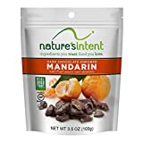 Nature's Intent Dark Chocolate Covered Dried Fruit- Mandarin Oranges 3.5 oz. (4 pack) Gluten Free, Whole Food Snacks