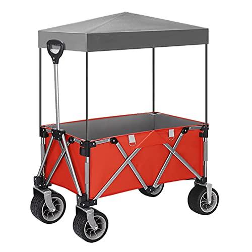 Garden Trolley Draagbare Campingtrolley Met Plafond, Opvouwbare Tuintrolley Voor Thuis, Afneembare En Wasbare Oxford…