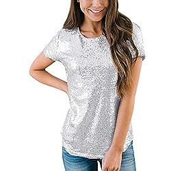 Casual Short Sleeve Gray T-Shirts O-Neck Top