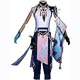 WXXT Cosplay Disfraz,Genshin Impact Xiao Fiesta Trajes Anime Juego Disfraces Uniforme Personajes Conjunto Completo