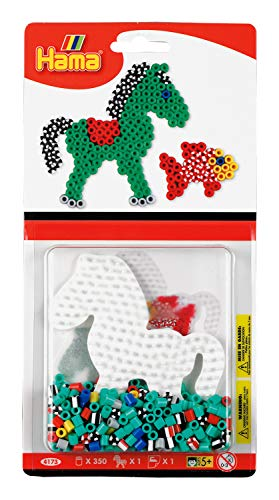 DAN Import 4173 Hama Set 350 parels gestreept paard/vis, meerkleurig