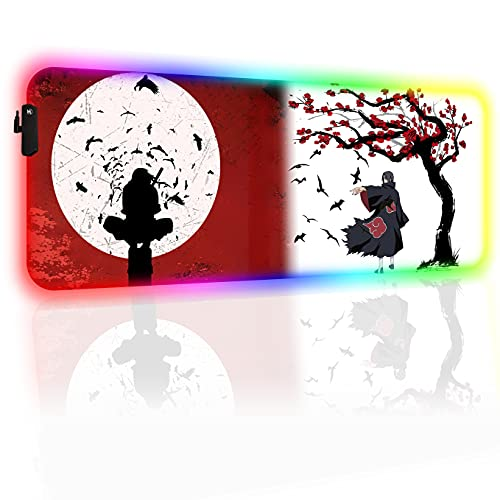 Akatsuki Custom Mouse Pad RGB Anime Mouse Mat (Side Switch) Home Office Computer Gaming Mousepad 4mm Thick 31.5x11.8 Inch