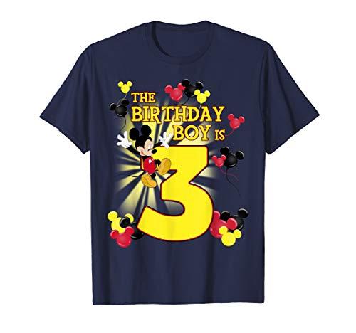 Disney Mickey And Friends Mickey 3rd Birthday Boy T-Shirt