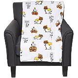Berkshire Halloween Peanuts Snoopy Woodstock with Pumpkins 55 x 70 Inch Plush Throw Blanket