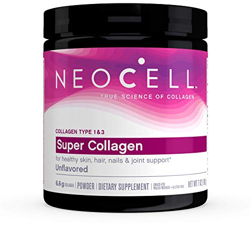 NeoCell® Super Collagen Powder, 6,600mg Types 1 & 3 Grass-Fed Collagen, Paleo Friendly, Gluten Free, Soy Free, Unflavored - 7 Ounces (Package May Vary)