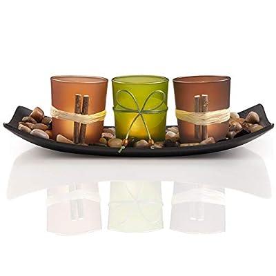 DARJEN Decorative Candle Holders Set for Home Decor & Bathroom Decorations - Table Centerpieces Candle Holder for Coffee Table Decor & Dining Room Table & Living Room Decor