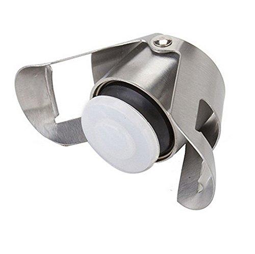 Sayla Sektverschluss, Silber, Rostfreier Stahl, 5.4 x 3.3cm, Premium Sekt- und Champagnerverschluss aus dunklem Edelstahl – Exklusiv für Sekt und Champagner Flaschen (Silber)