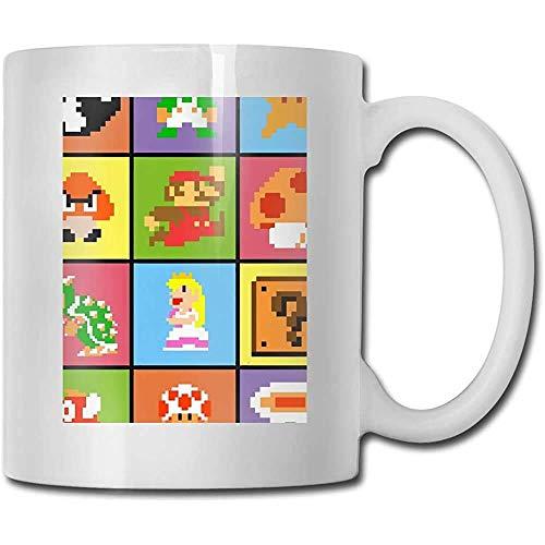 Taza de regalo de café y té Taza de cerámica de Mario Tazas de bricolaje El mejor regalo para familia, amigo, maestro 11 oz