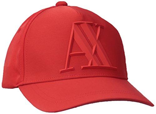 A|X Armani Exchange – Logotipo AX Tonal de Goma 3D para Hombre, Rojo absoluto, Talla única