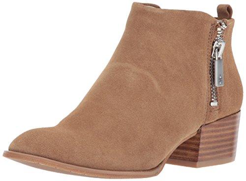 Kenneth Cole New York Addy Western Bootie Damen Stiefel mit doppeltem Reißverschluss, niedriger Absatz, Wildleder, Weiá (Almond), 38.5 EU