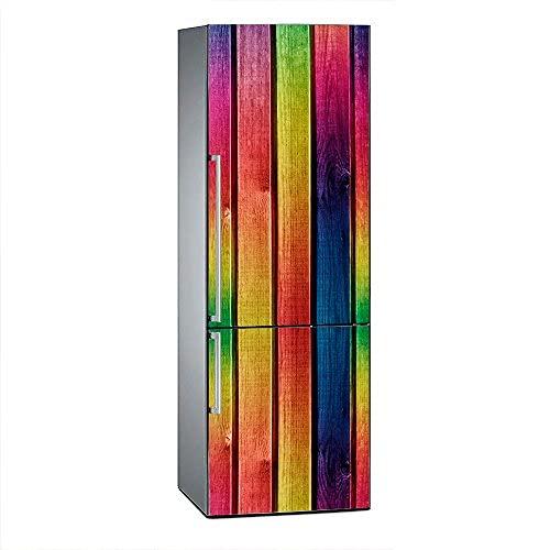 Oedim Vinilo para Frigorífico Madera Multicolor 185x60cm | Adhesivo Resistente y Económico | Pegatina Adhesiva Decorativa de Diseño Elegante