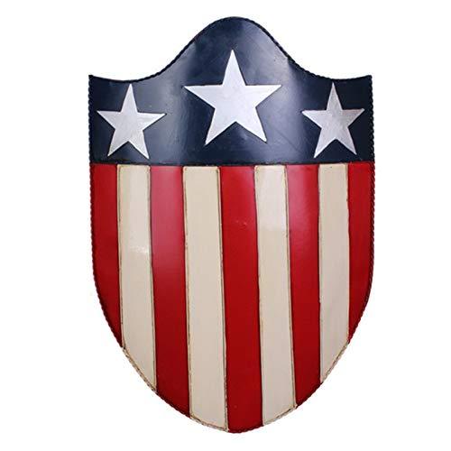 Metal America Adult Shield 1: 1 Replik Cosplay Requisiten, Marvel Legends Series Avengers Falcon Und Wintersoldat Captain America Schild F