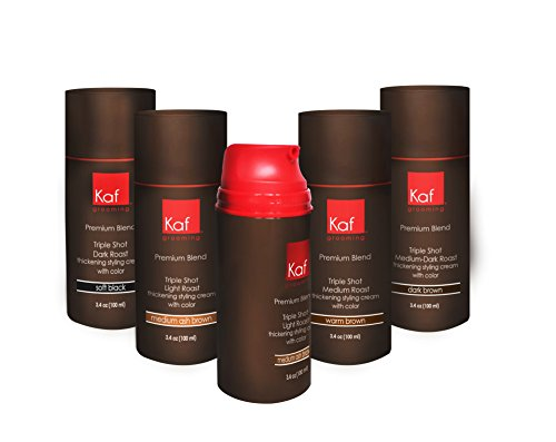 Mens Hair Gel That Targets Gray Hair, All Natural Cream NO DYE ADDED, works in seconds (Black)