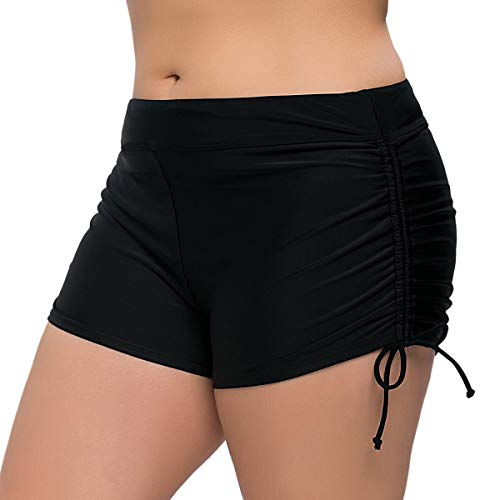 Sociala Women's Plus Size Swim Shorts Plus Size Board Shorts Bathing Suit Bottoms 1X