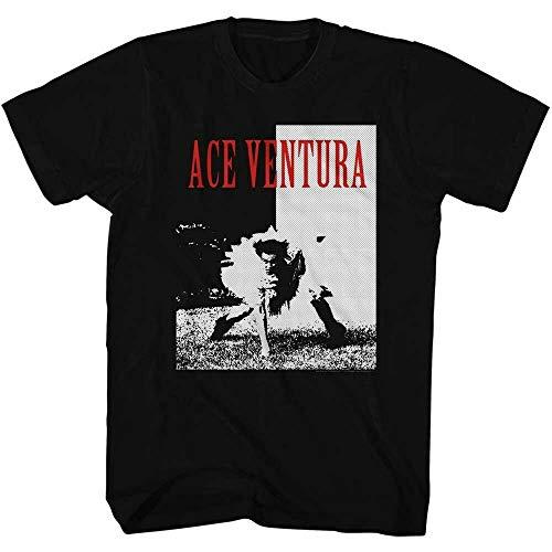 QIAN Ace Ventura Tutu Black Adult T-Shirt Black 3XL