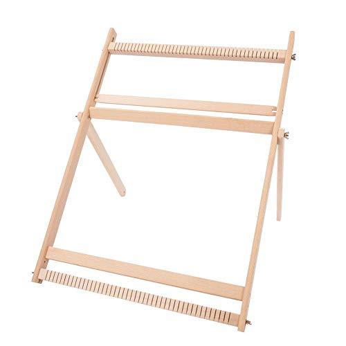 Telai per tessitura con supporto, kit telaio per tessitura multi-mestiere Telaio regolabile per tessitura Coperta in legno massello Sciarpa Telaio fai-da-te Macchina da cucire, per adulti