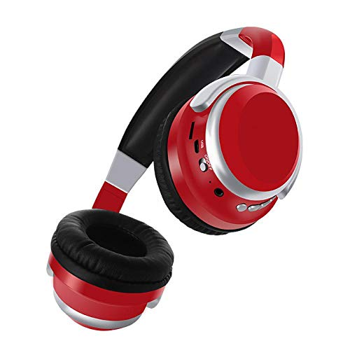 SFBBBO headset Wireless Headphones With Hd Mic Bluetooth Headphone Over Ear Headset Eearphone Support Tf Card For Pc Mobile Phone Red
