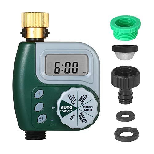 Kecheer Temporizzatore irrigazione programmabile,Programmatore irrigatore automatico timer,Centralina per irrigazione computer per giardino