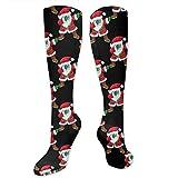 NE Fashion Athletic Long Socks, for Men Women Teens Girls Dress Socks, Casual Cute Snowman Family Leggings Stockings