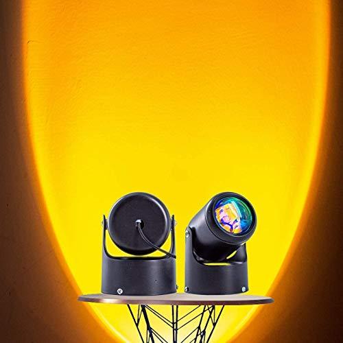 QAZW Lámpara Sunset, Luz Nocturna de Proyección de Rotación de 180 Grados, Luz Romántica Puesta de Sol para Niños Adultos, Luz Nocturna Al Atardecer para Fotografía,Sun