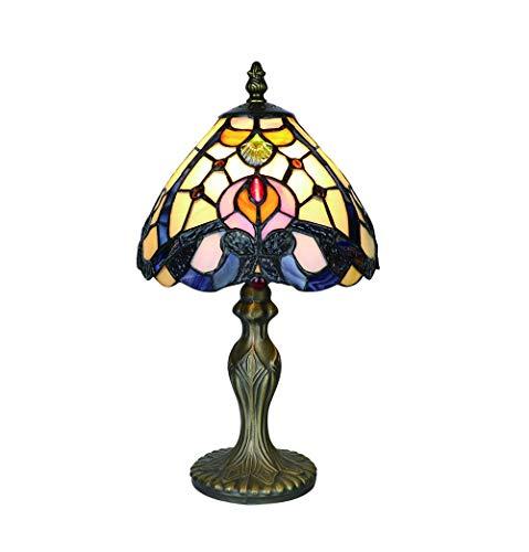 Tokira Tiffany Tafellampen, wit, 8 inch, Tiffany tafellamp, antiek origineel, glasschilderij lampen slaapkamer nacht lampenkappen eenvoudige stijl woonkamer