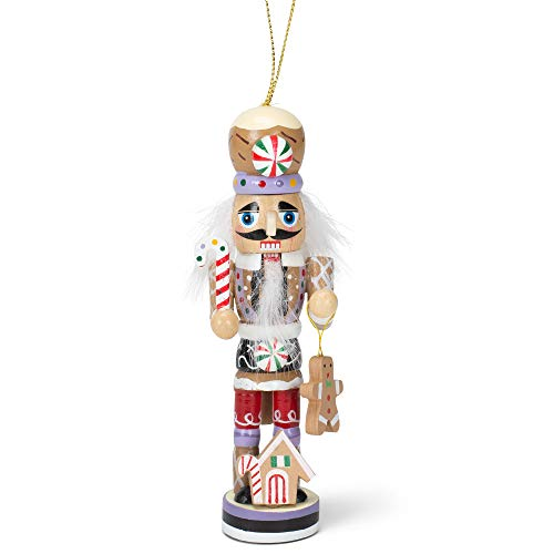 Kurt Adler Gingerbread Man Nutcracker Wooden Christmas Ornament Decoration