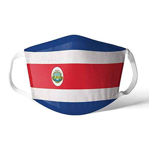 M&schutz Maske Stoffmaske Mittel Notleidende Flagge Costa Rica/Costaricanisch Wiederverwendbar Waschbar Weiches Baumwollgefühl Polyester Fabrik