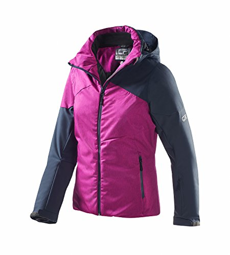 Central Project Damen Skijacke, Schwarz-Magenta, Gr. 38