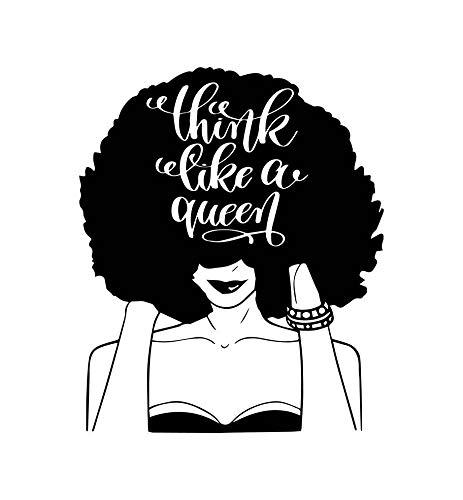 EvelynDavid Black Woman Stylish Princess Princess Queen Afro Hair Beautiful African American Female Lady Sticker Vinyl Decal Vector Clipart Digital Circuit Cut Cutting
