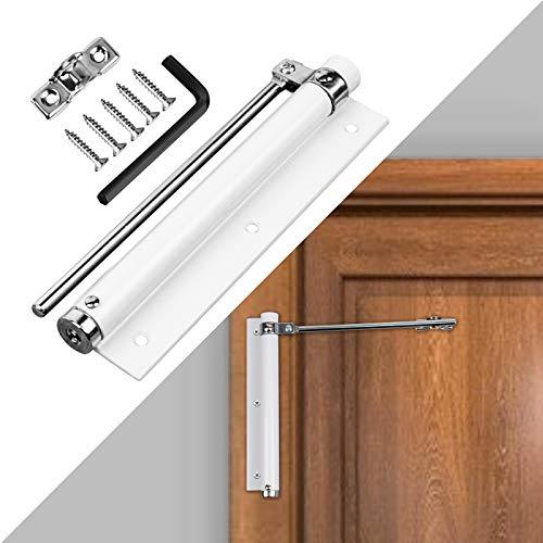 Auletin Storm Door Closer- Heavy Duty Automatic Door Closer, Safety Spring Door Closer for Screen Door, Aluminum Door Closer with Adjustable Closing Speed, Smooth and Quiet Door Closer for Hinge Door