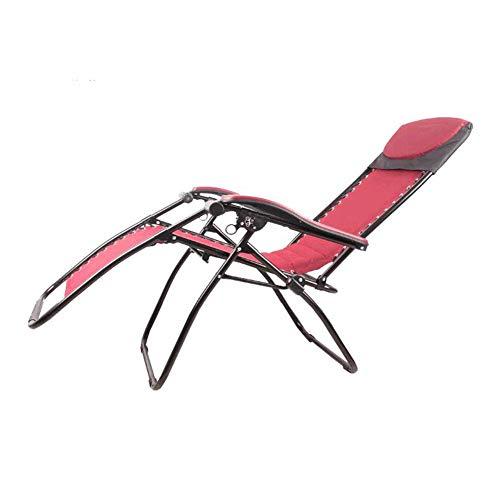 JJ Chaise de Pont Pliable inclinable Cadre en Acier de Jardin Plage terrasse Balcon