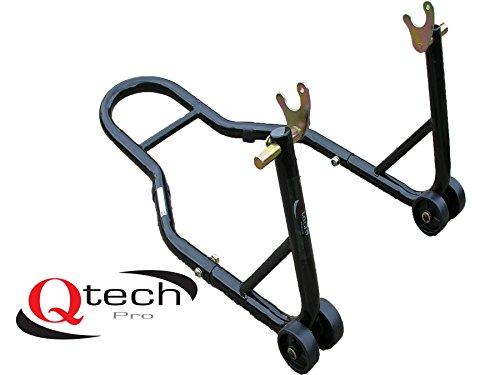Qtech Béquille roue arrière de moto en V pour atelier,...