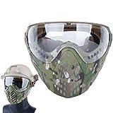 GODNECE Taktische Maske Motorrad Schutzmaske Gesichtsmaske Mit Brille für Nerf Airsoft Paintball,...