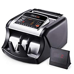 Money Counter with UV/MG/IR Detection, Bill Counting Machine with Counterfeit Bill Detection - LED Display, Batch Modes, 1,000 Notes Per Minute - Doesn't Count Value of Bills MMC01