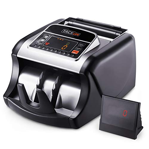Money Counter with UV/MG/IR Detection, Bill Counting Machine with Counterfeit Bill Detection - LED...