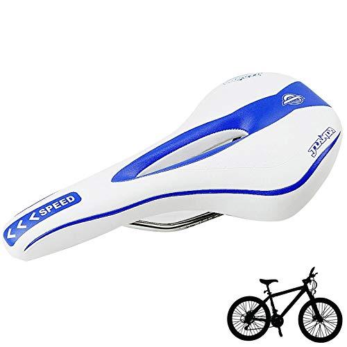 Lanbinxiang@@ La Nueva Bicicleta de montaña con sillín de Bicicleta de Carrera es cómoda, 451A (Negro + Azul), tamaño: 27.2 cm x 14.7 cm x 6.9 cm La Seguridad (Color : Azul)