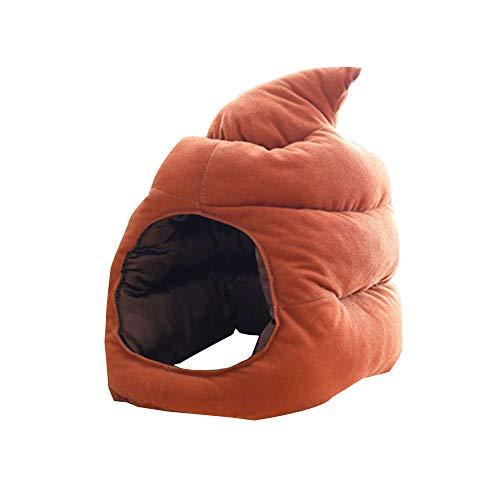 RB Sombrero de caca con emoticono de peluche suave para disfraz de perro grueso, cojín de peluche para decoración del hogar, 38 x 30 cm