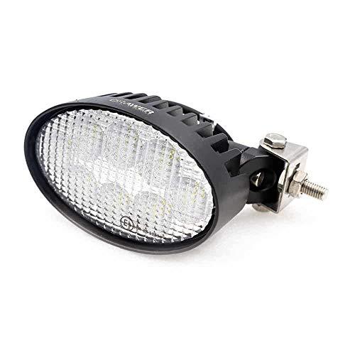 CRAWER Arbeitsscheinwerfer oval 40 Watt verstellbar 6.000K 3200 Lumen Kaltweiß Offroad arbeitslicht arbeitsleuchte LED Leuchte lampe scheinwerfer IP67 CISPR Klasse 4 high intensity CREE XTE LEDs